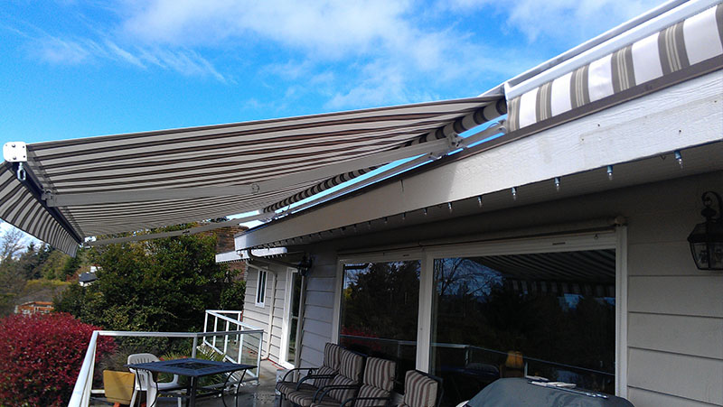 retractable awnings for patios decks a sunrise shading